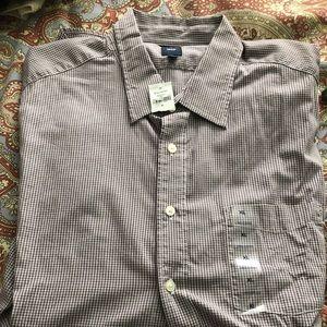 Men Extra Large long sleeve button up shirt